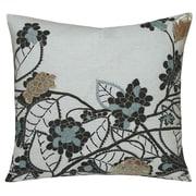 Kevin O'Brien Studio Hydrangea Embellished Decorative Throw Pillow; Dusk
