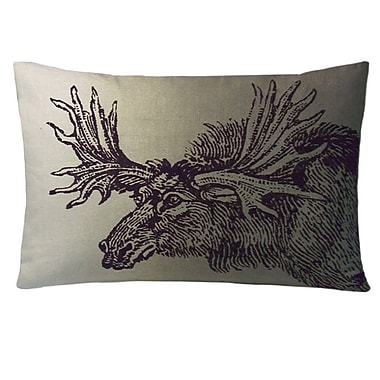 Kevin O'Brien Studio Animals Moose Lumbar Pillow; Twilight