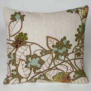 Kevin O'Brien Studio Hydrangea Embellished Throw Pillow; Sienna