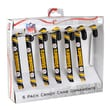 Forever Collectibles NFL Candy Cane Ornaments (Set of 6); Pittsburgh Steelers