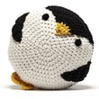 Peanut Butter Dynamite Crochet Acrylic Penguin Pillow