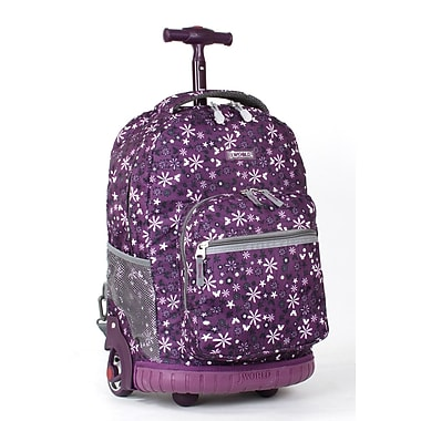 J World Sunrise Rolling Backpack; Purple