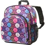 Wildkin Peace Signs Purple Pack 'n Snack Backpack