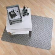 FLOORTEX Colortex Hard Floor and Low Pile Carpet Chair Mat; Gray Ripple