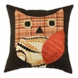 Chooty & Co Passion Suede Polyester / Cotton Blend Pillow; Orange