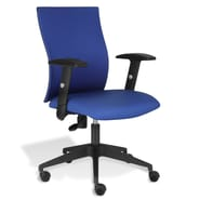 Jesper Office Jesper Office Kaja Office Chair with Arms; Blue Fabric