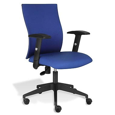 Jesper Office Jesper Office Kaja Office Chair with Arms; Blue Fabric