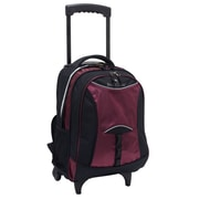 U.S. Traveler Pacific Gear Lightweight Wheeled Backpack; Burgundy
