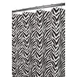 Watershed Prints Polyester Zebra Shower Curtain; White / Black