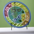 Cape Craftsmen Round Embossed Hand Painted Calypso Summer Plate