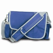 SailorBags Messenger Bag; Nautical Blue with Grey Trim