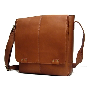 Le Donne Leather Messenger Bag; Tan
