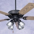 Emerson Fans 52'' Summer Night 5 Blade Ceiling Fan; Barbeque Black with Oak Blades