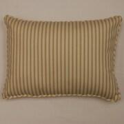 Dakotah Pillow Marina Stripe Cotton Lumbar Pillow (Set of 2); Driftwood