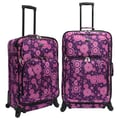 U.S. Traveler Fashion 2 Piece Spinner Luggage Set I; Purple