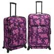 U.S. Traveler Fashion 2 Piece Spinner Luggage Set; Purple