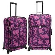 U.S. Traveler Fashion 2 Piece Spinner Luggage Set I; Purple