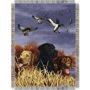 Northwest Co. Entertainment Tapestry Hautman Brothers Bird Dog Throw Blanket