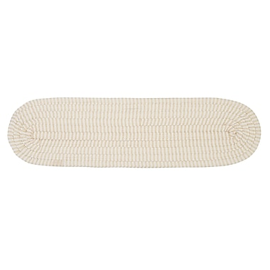Colonial Mills Ticking Stripe Oval Canvas Stair Tread; Set of 13