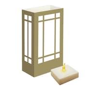 Luminarias 10'' H Mission LumaLites Indoor/Outdoor Lantern Table Lamp w/Rectangular Shade (Set of 6)