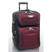 Traveler's Choice Amsterdam 21'' Expandable Rolling Carry - On in Burgundy