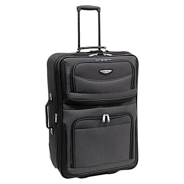 Traveler's Choice Amsterdam 25'' Two-Tone Expandable Rolling Suitcase; Gray
