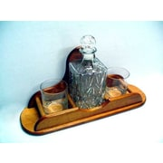 Womar Glass Carafe 3 Piece Crystal and Cognac Glass Set