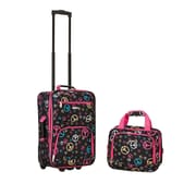 Rockland 2 Piece Carry On Luggage Set; Peace