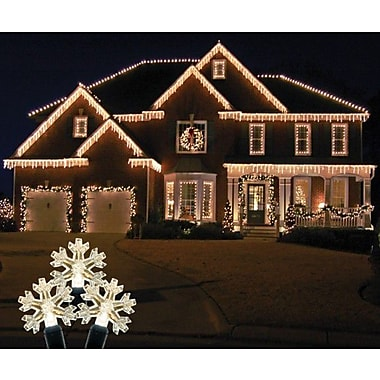Queens of Christmas 70 Light LED Icicle Light; Warm White