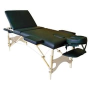 Sivan 3 Fold Reiki Portable Massage Table and Carrying Case; Black