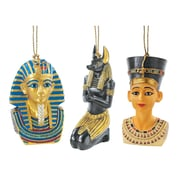 Design Toscano Icons of Ancient Egypt Holiday Ornament (Set of 3)