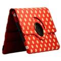 Bargain Tablet Parts Ipad Mini Polka Dot Rotating Case; Red