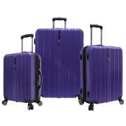 Traveler's Choice Tasmania 3 Piece Expandable Spinner Luggage Set; Purple