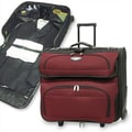 Traveler's Choice Amsterdam Two-Tone Rolling Garment Bag; Red