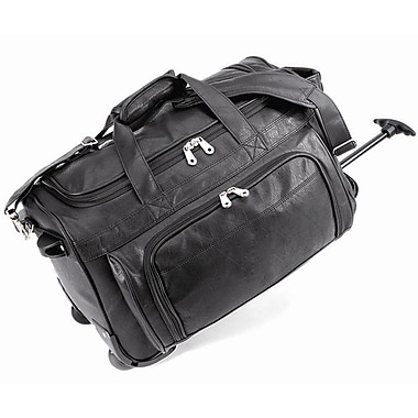 U.S. Traveler 20'' Status Koskin Leather 2-Wheeled Carry-On Duffel