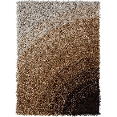 Chandra Vivid Brown Area Rug; 5' x 7'