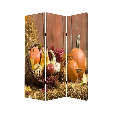 Screen Gems 72'' x 48'' Harvest 3 Panel Room Divider