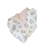 Textiles Plus Inc. Rose Perfume Spring Rose Cotton Throw Blanket
