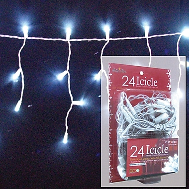 Brite Star 24 Light Micro Mini Icicle LED Lights