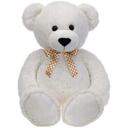 Fiesta Toys 38'' Cuddle Bear with Ribbon; White
