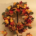 Cypress Autumn Inspirations Fall Bouquet Wreath with Glitter