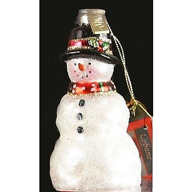 Cobane Studio LLC Rustic Snowman Ornament