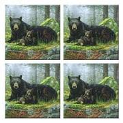McGowan Tuftop Black Bears Coasters (Set of 4)