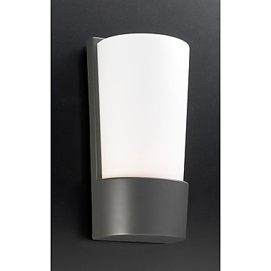 PLC Lighting 1 Light Outdoor Flush Mount; Architectural Bronze