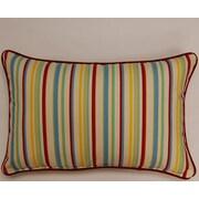 Dakotah Pillow Dockside Corded Lumbar Pillow (Set of 2); Cardinal