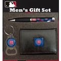 Team Sports America MLB PU Tri-fold Wallet Pen and Keychain Gift Set; Chicago Cubs