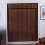 Top Blinds Arlo Blinds Bamboo Roman Shade; 74'' W x 74'' L