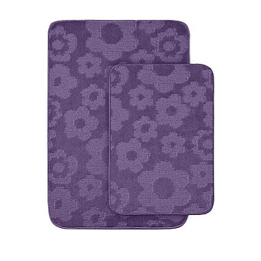 Garland Rug Flower 2 Piece Bath Rug Set; Purple
