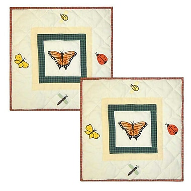 Patch Magic Bug Garden Cotton Throw Pillow (Set of 2)