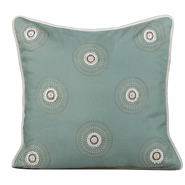 Gracious Living Dazzle Throw Pillow; Charlotte Blue